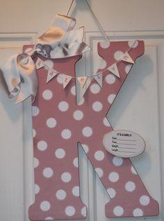 Baby Door Hanger by SillySalgals on Etsy, $40.00