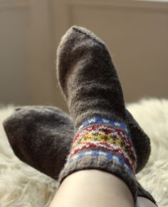 skroo fair isle socks - pdf knit pattern
