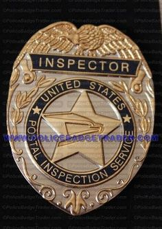 US Postal Inspector badge. Available from www.policebadgetrader.com