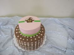 Monkey Girl Baby Shower Cake ~ Pink Baby Shower Ideas ~