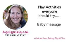 "The how's and what's on #babymassage. Interview! ""Don't make play just for one moment in a day""... @Mel Avila raising playful tots"