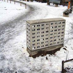 Streetart: Buildings by Evol