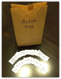 The Action Bag - Speech Therapy Idea #2