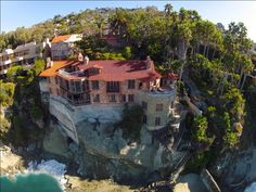 I lived here.(Originally listed at $34,900,000!)  The Historic Villa Rockledge is located in Laguna Beach on a 25,000 square foot oceanfront lot. It has panoramic ocean views from almost every room, including some closets and bathrooms. Villa Rockledge is one of the only homes in Laguna Beach with a private beach, which spans 120 feet. This estate also includes a saltwater pool that is easily accessible from the home. The compound has 12 bedrooms and 11 bath...