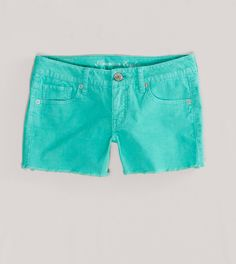 Tried these on and they were awesome! Pool Blue / Teal Corduroy Shorts - and MIDI length!!! Not so short, and super cute