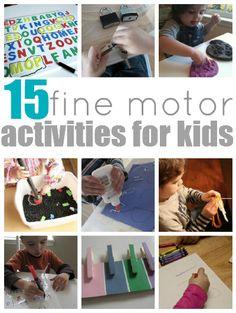 Fine Motor skill development- so important for writing skills.