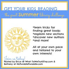 The Great Summer Library Challenge: Have fun exploring the library with your kids & learning tips & tricks for always coming home with awesome books!