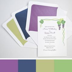 Vineyard wedding color palette: berry, navy & shades of green - Wine Country Occasions, www.winecountryoccasions.com