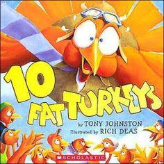 10 Fat Turkeys  #turkeys #thanksgiving #preschool #toddler #kidsbooks