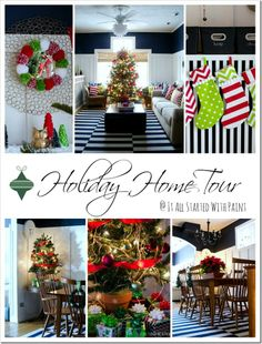Holiday Home Tour at it all started with paint