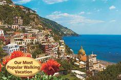 Positano on the Amalfi Coast with VBT. #Italy