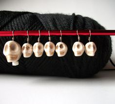 Goth Skulls - Knitting Stitch Markers by OneStitch