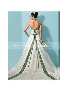 weiß& grün-lieben Sie dieses Hochzeitskleid
