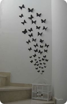 Mariposas en la pared.