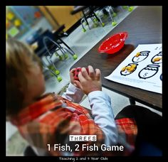 Teaching 2 and 3 Year Olds: February Activities - Weeks 3 and 4 - One Fish, Two Fish math game