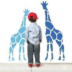 giraffe wall murals
