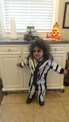 Easy Beatlejuice Costume for a Child... Coolest Homemade Costume Contest