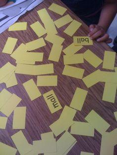 Rhyming Memory Game - match the rhyming words!