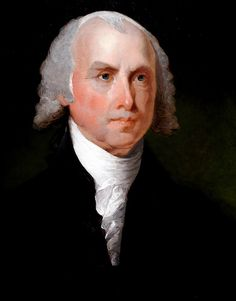 President James Madison, #4, painted by Gilbert Stuart in 1821. Madison was our shortest President, standing only 5 feet, 4 inches tall.