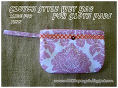 Cloth Pad wetbag clutch style