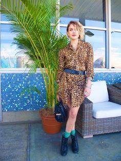 Love this Leopard dress.