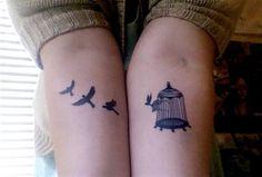 bird tattoos, symbol, little birds, birdcages, children, sweet tattoos, a tattoo, design, ink