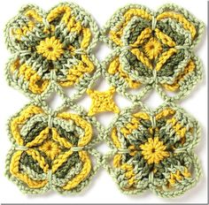 Free Motif Pattern from Connect the Shapes #crochet