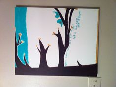 Painted canvas art (: