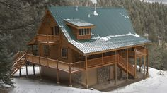 Log Home Design Plan and Kits for Larkspur