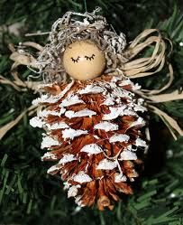 How to create easy Pine Cone Decorations christmas time, angel crafts, christmas decorations, easi pine, angel ornaments, christmas ornaments, christmas trees, pine cone crafts, inexpensive crafts