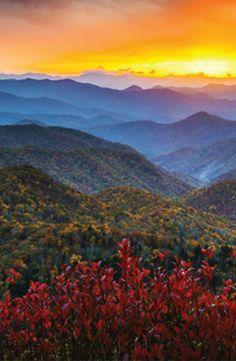 the beautiful Blue Ridge Mountains