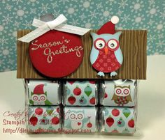 Owl punch for christmas, Stampin up Owl paper