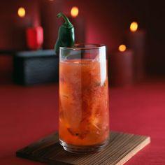 Don Julio Hot Nantucket Night:  2 Fresh cranberries  1 thin slice Jalapeño pepper  1.5 oz Don Julio Blanco Tequila  1 oz Agave nectar  .5 oz Lime juice  Garnish w/ Jalapeño pepper