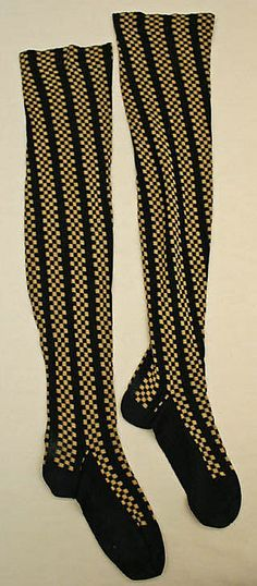 Cotton stockings, late 19th century