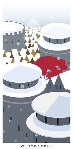 WInterfell  Game of Thrones Prints Series by BreakingFrameDesign, #GoT #asoiaf #stark