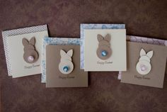Easter Bunny Mini Cards Set by InspiredPaperie on Etsy, $6.00
