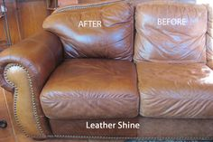 Norwex Leather Shine - should try this, although my damp Norwex Enviro cloth worked great alone on my leather couch!