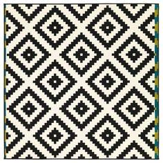 LAPPLJUNG RUTA Rug, low pile - white/black - IKEA