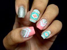 summer aztec nails