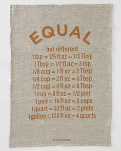 Equal tea towel by Studiopatró -