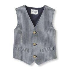 Railroad Stripe Vest - Train Clothes for Kids