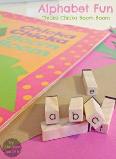 Tons of Chicka Chicka Boom Boom Letter Activities {Educators' Spin On It}