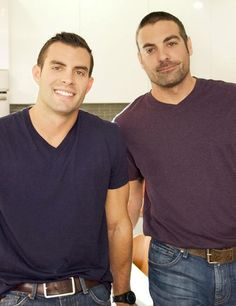 HGTV's Kitchen Cousins    http://www.homorazzi.com/article/kitchen-cousins-anthony-carrino-john-colaneri-shirtless-pics-hgtv-show-diy-wyr/