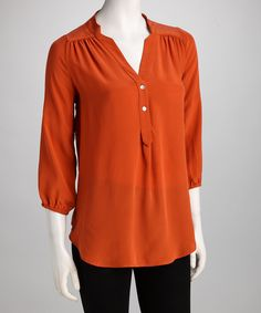 Orange Amy Silk Top