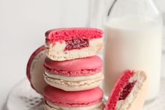 Raspberry and vanilla Macarons