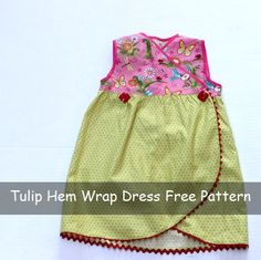 Tulip Hem Wrap Dress Free Sewing Pattern to whip up for granddaughters