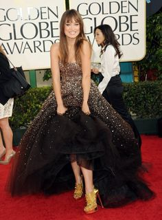 olivia wilde. amazing. favorite red carpet look from the golden globes this year.