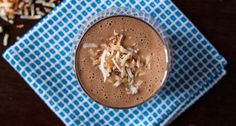 Blend up this frothy, uber-delicious Almond Joy protein shake.