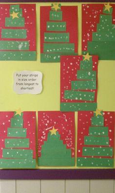 Incorporating math into Christmas tree art! christma tree, christmas trees