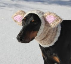 Dog Snood with Ears for Medium to Large Dog  Hand by COZYHORSE, $46.00